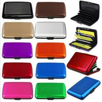 Wholesale free ship Solid color metal quality exquisite waterproof aluminum credit card bag stock box opp bag package