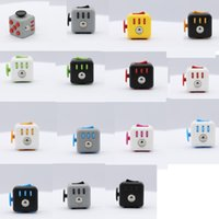 Wholesale 15 color New cm ABS Fidget cube the world s first American decompression anxiety Toys with Lanyard and box DHL shipping E1971