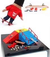 action stunts - Fingerboard finger skateboard runway originality intellectual mini toys Tech Skateboard Stunt Ramp Deck site Action Figures