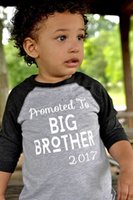 cotton big brother clothing - 2017 Ins Summer Baby Boy Tees T Shirts Baby Short Sleeve big brother Letter Black T Shirts Baby Ins Clothes
