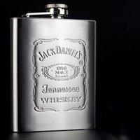Vente en gros de haute qualité portable en acier inoxydable frégate Whisky flacon bouteille Mug Graver Wisky Jerry peut avec boîte comme cadeau 1pc
