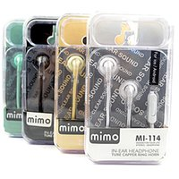Wholesale The original MP3 bass voice headset MI boxed with mark of high quality flat ear headset