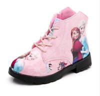 anna boots - High quality fashion New Children Boots Girls Kids Shoes Sneakers Cartoon Queen Princess Girls Shoes Children Snow Boots Kids Anna Boots