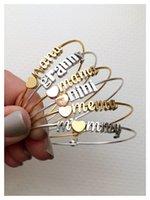 2017 Trend Charms Mama Mère Mère Bracelet Bracelet cadeau en acier inoxydable Bracelet cadeau Lettre initiale personnalisée