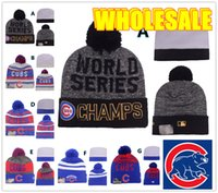 baseball team gift - HOT Champion Sport KNIT MLB CHICAGO CUBS Baseball Club Beanies Team Hat Winter Caps Popular Beanie Fix Cheap Gift Present