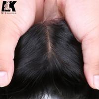 Cheap silk top lace closure Silk Base Closure Body Wave 100% Virgin Human Hair Free Middle 3 Part Silk Top Lace Closure Bleached Knots