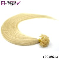 Wholesale GH Angel strands set inch Human Hair Extensions Keratin U Tip Hair Extensions Remy Straight Hair g g g g SET