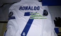 Wholesale 1617 match shirt long sleeve real madrid home player version size ucl ronaldo top quality
