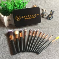 Cheap 1pcs 12 Jian Makeup Brush set professional Makeup tools portable storage box full set of factory outlet DHL Free shipping