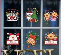 bell house hotel - 2017 Color wall stickers Christmas shop shop glass window stickers Hotel is dressed up snow bell Santa Claus