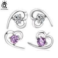 Stud austria crystal stud earring - 2016 Newest Austria Crystal Genuine SWA Elements Stud Earring Layer Platinum Plating Sterling Silver OE11