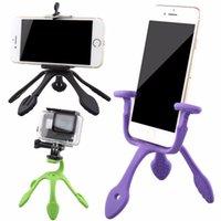 Wholesale DHL Gekkopod camera Tripods Mount Portable Flexible Stand Holder for iPhone Gopro Sj4000 SJCAM Sports Cameras Accessories