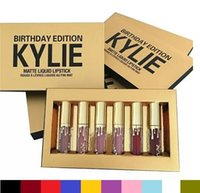 Wholesale Kylie Cosmetics Birthday Collection Limited Edition lipstick kylie jenner Matte Lipstick Birthday Collection Mini Kits lip kit set
