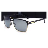 al por mayor estructura de metal para hombre de las gafas de sol de las gafas-Las gafas de sol 2017 del Mens de la vendimia de los hombres de las gafas de sol del aviador diseñan las gafas de sol Semi-