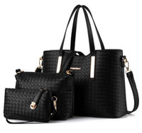 Wholesale Women Handbag Pieces in a Girls Woven Design Purse Leatherette Shoulder Handbags Clutches Bags