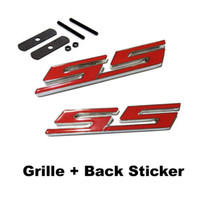Wholesale 10pc D Metal Car SS Logo Stickers Sport Emblem Badges Car Styling Outer Decoration Decals Accessories