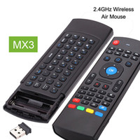 Wholesale 2 Ghz Fly Air Mouse MX3 Wireless Mini Keyboard For Mini PC HTPC Laptop Smart TV X96 A95X Android TV Box Remote Control