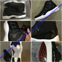 Wholesale Cheap Basketball Ball Shoes - New 2017 Retro 11 XI Mens Basketball Shoes 72-10 Concord Bred Space Jam Legend Blue Basket Ball Shoes Sneakers Boots Retros 11s Shoes Cheap