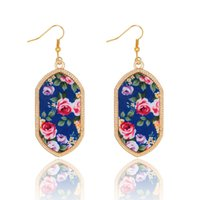 Wholesale Hot Kendra Scott Earring China set flower Gold Plated Geometry Stone Colors Cute gift for women and hign quality