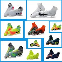 ankle nail - New TF Nail Green Football Shoes Boots Neymar Hypervenom FG Nail Soccer Shoes Cleats Mercurial Superfly High Ankle Indoor Soccer Boots