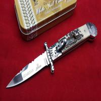 antler knifes - AKC Hubertus Solingen guardian antler handle camping Collecting hunting knife knives copies freeshipping