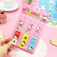 Wholesale pack New Cute Hello Kitty Luminous Magnet Bookmark Paper Clip School Office Supply Escolar Papelaria Gift Stationery H1544