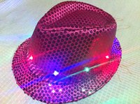 baseball cap with led - Christmas party Led Hat LED Unisex Lighted Up Hat Glow Club Party Baseball Hip Hop Jazz Dance Led Llights Hat with shipping free