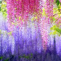 artificial flowers wholesaler - Elegant Artificial Silk Flower Wisteria Vine Rattan Simulation flowers Fake Flower for Wedding Home and Party Decoration