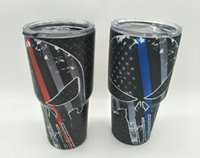 Wholesale 30oz send skeleton skull yetis flag cup cooler yetis cups for YETIs Powder Coated ounce insulated for Yeti