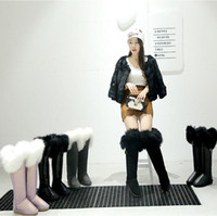 Wholesale WINTER SNOW BOOTS Knee Boots Metallic Luster COLOR warm shoes Fashion Design