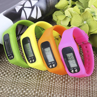 Pedometers Multifunctional  Digital LCD Pedometer Run Step Calorie Counter Walking Distance Electronic Counter Strap-hand Pedometer Sport Bracelet Watch +B