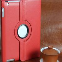 Boîtier rotatif à la mode à 360 degrés Housse en cuir PU à 360 degrés Boîtiers PC tablette pas chers