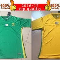 achat en gros de vert afrique-2017 Afrique du Sud équipe nationale Jersey 16 17 Afrique du Sud Soccer Maillots 2018 Costa Rica Accueil Yellow Green Away Thai Football Shirt