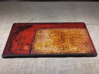 antique wood tray - high quality Red piano finished lacquer serving tea wood tray