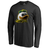 arrival press - 2016 New Arrival Oregon Ducks Midnight Mascot T shirt Hot press Men College black jersey Size M XL