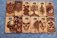 apple carvings - Luxury Carving Cherry Wood Case For Samsung S6 S7 edge S5 Iphone s plus Wooden Cases Cover DHL