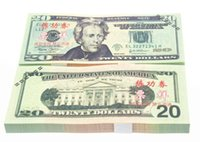 Wholesale Earliest edition Money banknote USD20 for props and Education bank staff training paper fake money copy money children gift