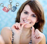 Bamboo bamboo keychain - M Color Random Dental Floss for Teeth Cleaning Oral Care Kit Dental Hygiene Mint Fragrance Portable teeth keychain