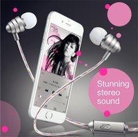 Wholesale New Metal stunning stereo sound Earphones KDK General In ear headphones Perfume line moblie phone headsets Subwoofer pro earphones