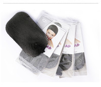 Wholesale stretchable elastic hairnet Mesh Weaving wig cap for wigs top closed