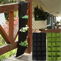 Wholesale Wall Hanging Planter Vertical Felt Garden Plant Pots Grow Container Bags Pockets For Garden Decoration