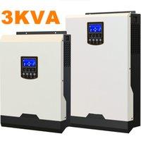 al por mayor refrigeración del inversor-Guay ! Inversor solar 3Kva 2400W fuera del inversor de la rejilla 24V a los inversores de 220V 50A PWM Inversor híbrido puro de la onda de seno 25A AC