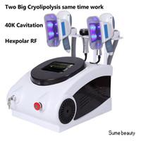 Wholesale 2017 Newest Hot sale Portable zeltiq cryolipolysis fat freezing slimming machine K cavitation hexpolar RF slimmimg machine