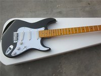 Wholesale Electric guitar NEW black color maple neck electric guitar AAA Quality Actual Photo