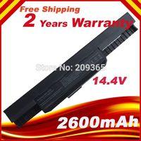 Wholesale MAH Laptop battery For Asus A31 K53 A32 K53 A41 K53 A42 K53 A43 A53 A54 A83 K43 K53 P43 P53 X43 X44 X53 X54 X84 X43U A54C
