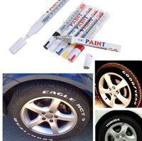 Wholesale Universal Waterproof White Permanent Paint Car Tyre Marker Pen