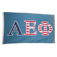 alpha phi - Alpha Epsilon Phi Green Letter Outdoor College Banner Flag X5 Custom America USA Team Soccer College Baseball Flag