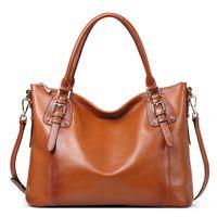 alligator logo - Vintage Women Shoulder Tote Bag Handbag Hot Sales First Ply Cowhide Leather Genuine Leather Handbag OEM Logo Welcome
