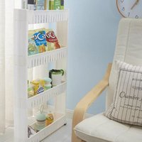 beverage types - Three tier four tier import technology folder stitching refrigerator clearance gap containing finishing rack kitchen bathroom shelves home s