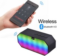 amazon portable speaker - 2016 Hot sales amazon popular cell phoe wireless sound LED colors portable card FM little bluetooth speakers hands free calls